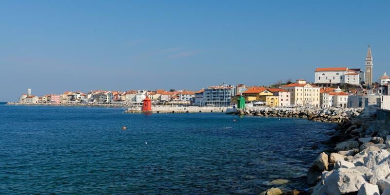 Vieille ville pittoresque Piran - Slovénie photographie stock libre de droits