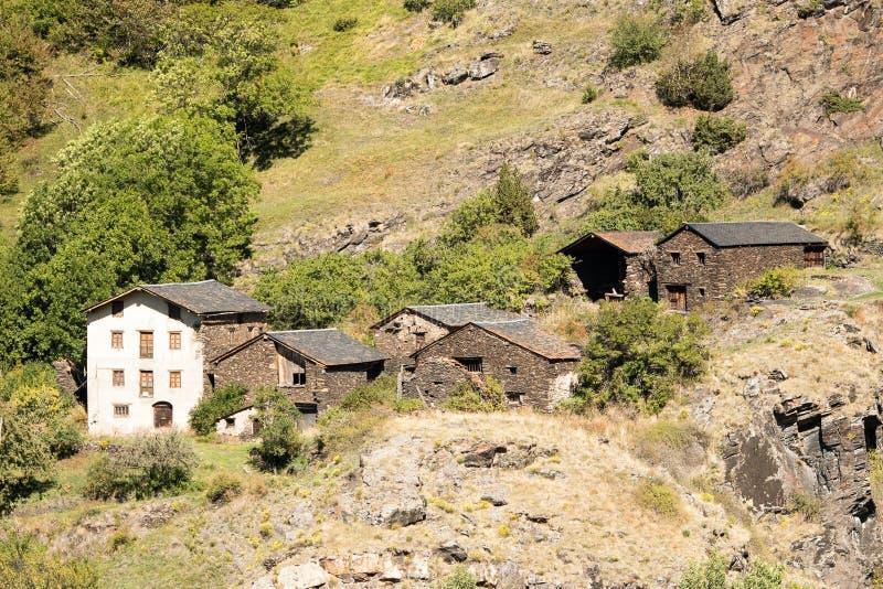 Vieille ville rurale de L'Armiana dans la paroisse de Canillo, Andorre photos stock