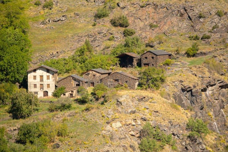 Vieille ville rurale de L'Armiana dans la paroisse de Canillo, Andorre photo stock