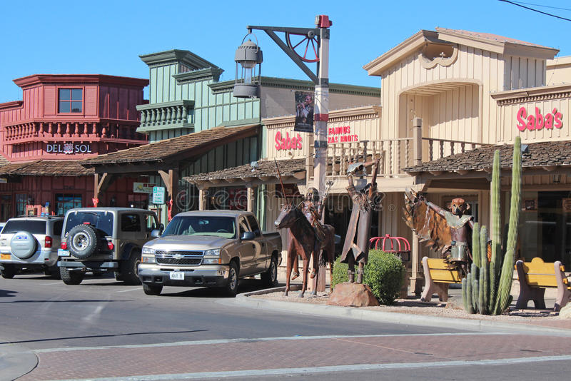 Vieille ville Scottsdale, Arizona image stock