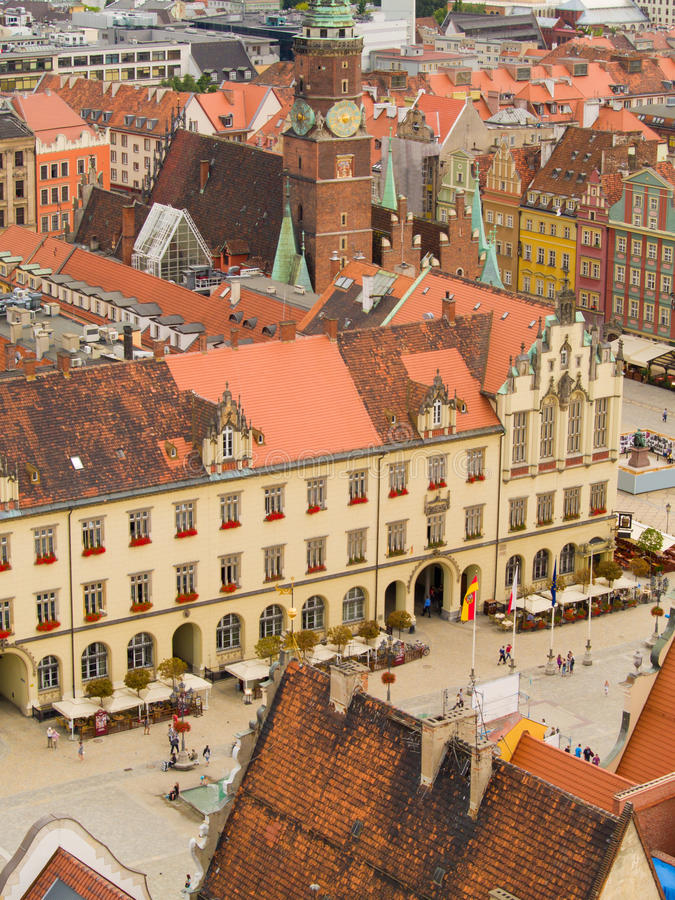 Vieille ville, Wroclaw, Pologne images stock