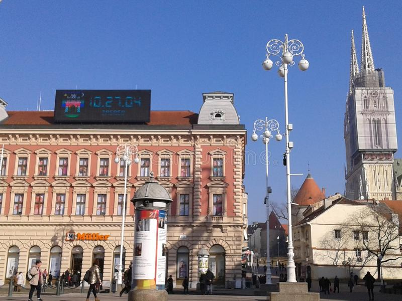 Vieille ville - Zagreb Croatie photo libre de droits