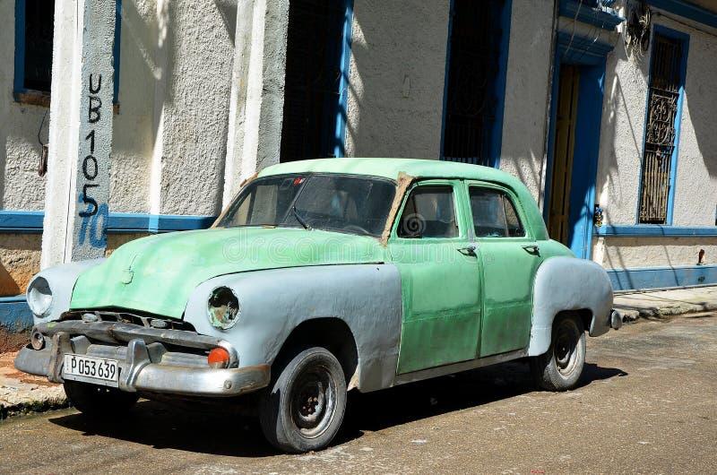 Vieille voiture américaine à La Havane, Cuba photographie stock