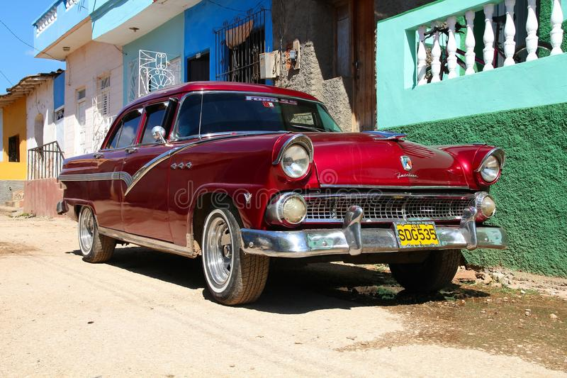 Vieille voiture au Cuba images libres de droits