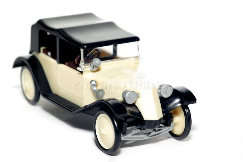 Vieille voiture Tatra 11 Faeton de jouet photographie stock