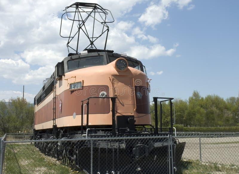 Vieille vue de face locomotive photos stock