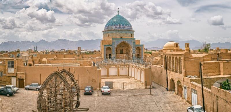 Vieille vue de ville de Yazd photos libres de droits
