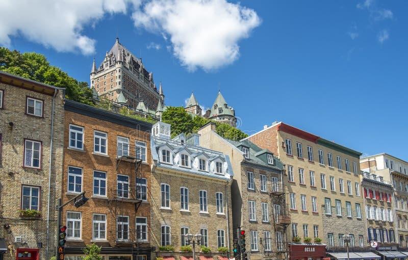 Vieille vue historique du Québec photo libre de droits
