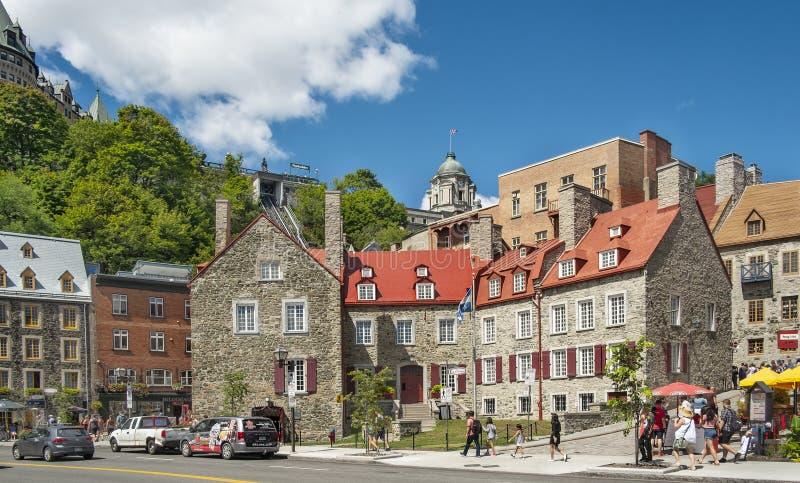 Vieille vue historique du Québec images libres de droits