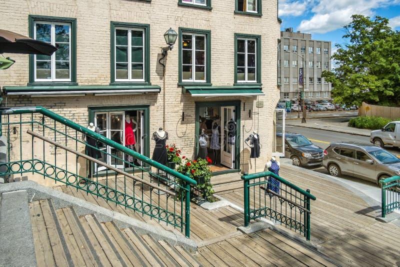 Vieille vue historique du Québec photos stock