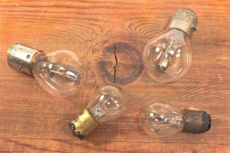 Vieilles ampoules photos libres de droits
