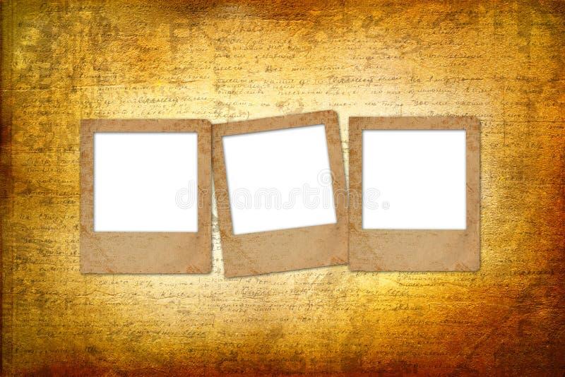 Vieilles archives avec des lettres, photos illustration de vecteur