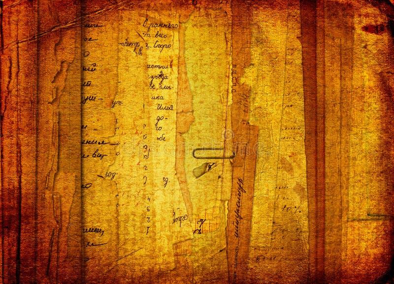 Vieilles archives avec des lettres, photos illustration stock