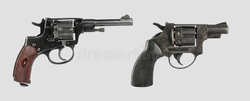 Vieilles armes à feu avec le chemin de coupure photographie stock