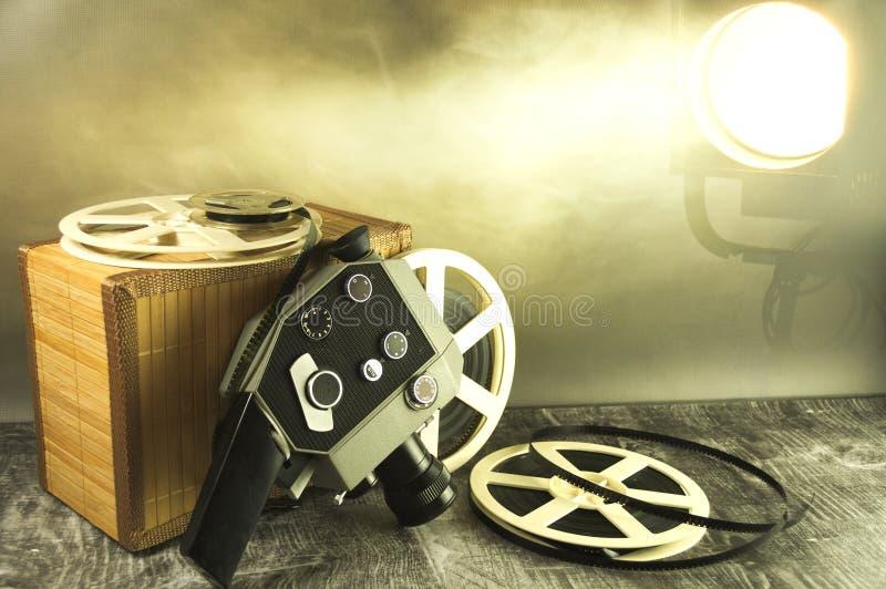Vieilles bandes et caméra pour filmer images libres de droits