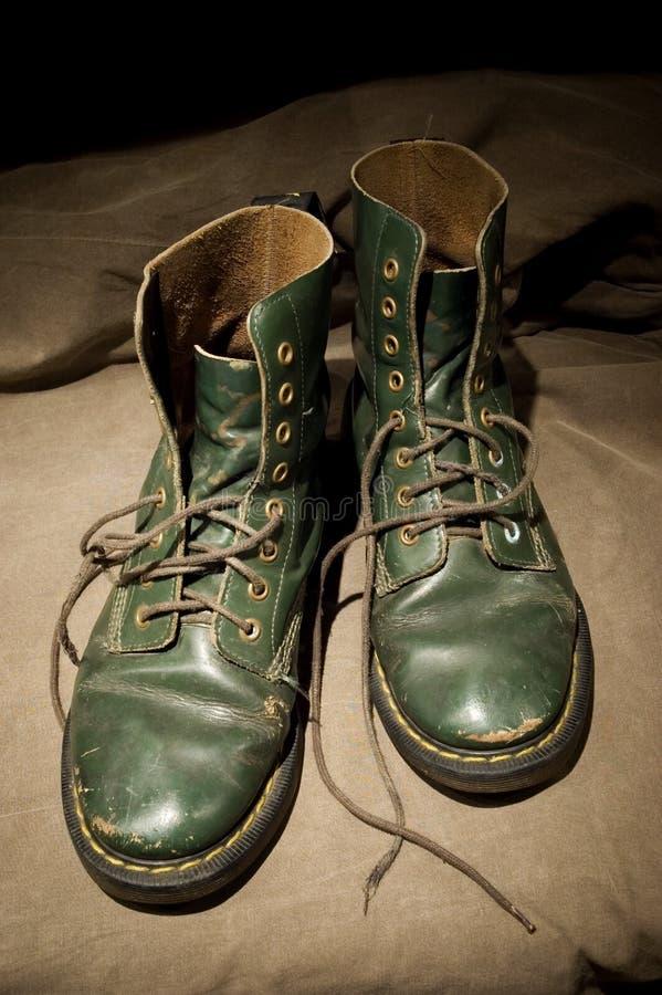Vieilles bottes photo stock