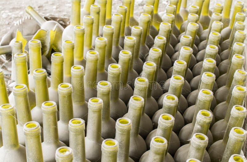 Vieilles bouteilles en verre vides photographie stock libre de droits