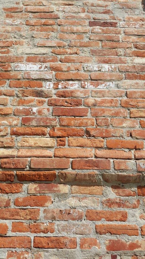 Vieilles briques rouges - fragment du mur de bâtiment photos libres de droits