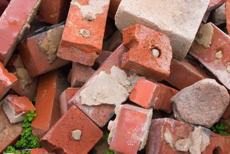 Vieilles briques utilisées photographie stock libre de droits
