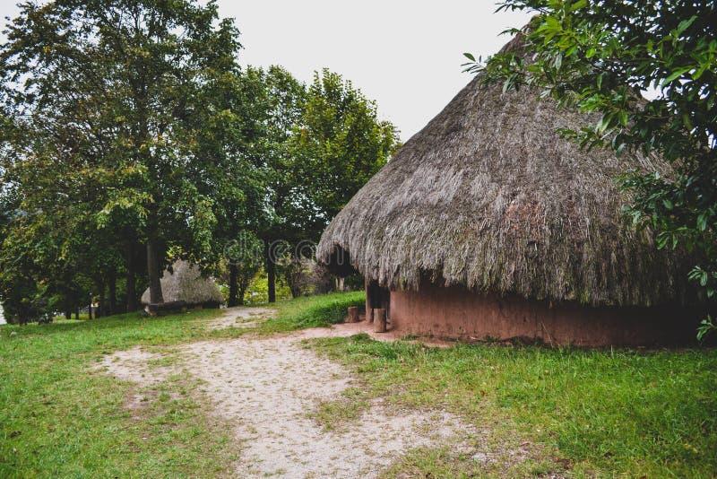 vieilles cabines extérieures de Celtiberian photographie stock