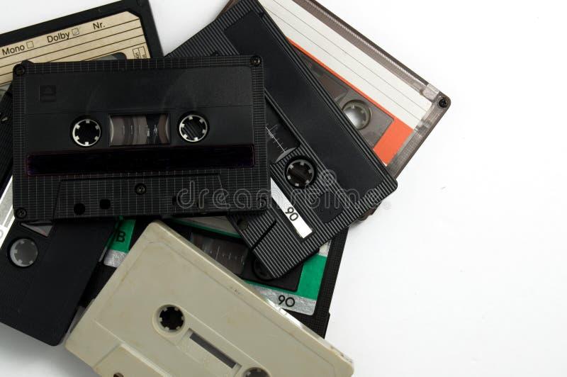 Vieilles cassettes classiques de vintage pour l'enregistrement photographie stock