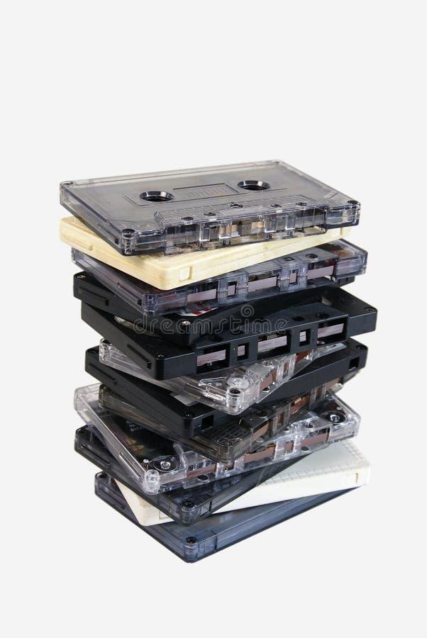 Vieilles cassettes sonores image libre de droits