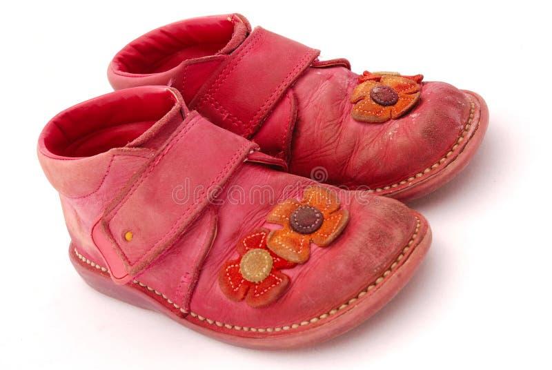 Vieilles chaussures images libres de droits