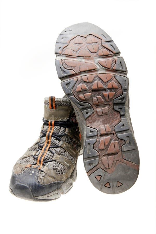 Vieilles chaussures de gymnastique photographie stock libre de droits