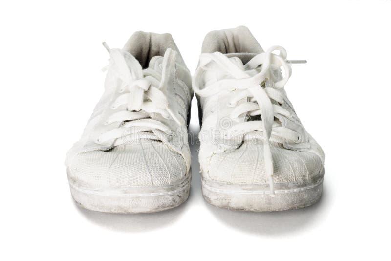 Vieilles chaussures de toile image stock