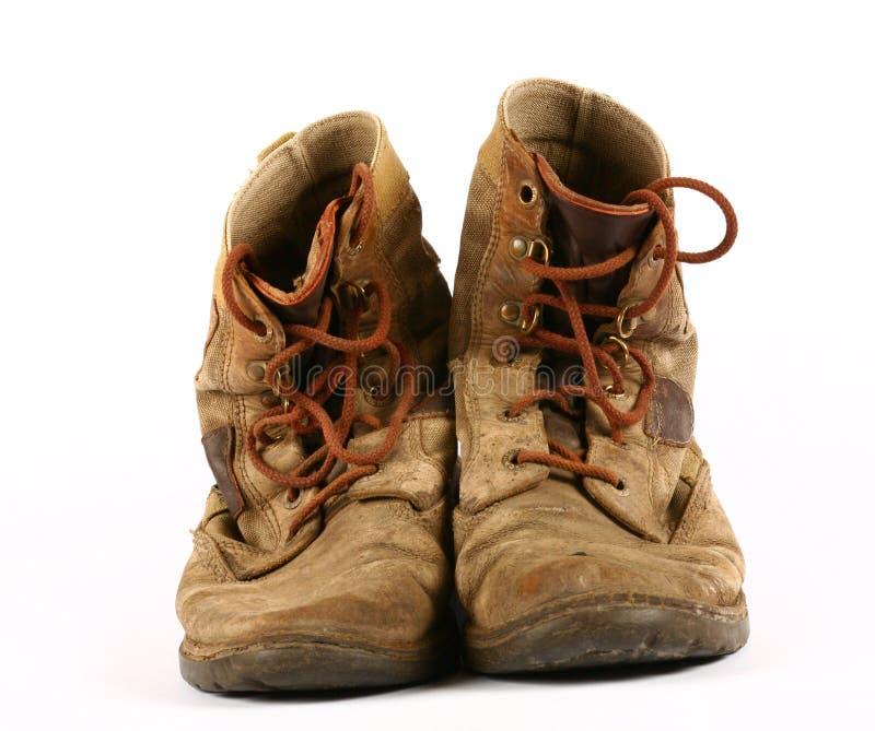 vieilles chaussures portées photo libre de droits