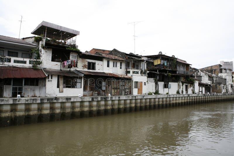Vieilles constructions dans Melaka image libre de droits