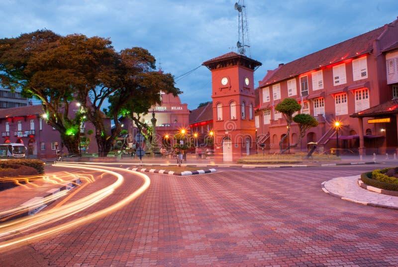 Vieilles constructions dans Melaka photographie stock