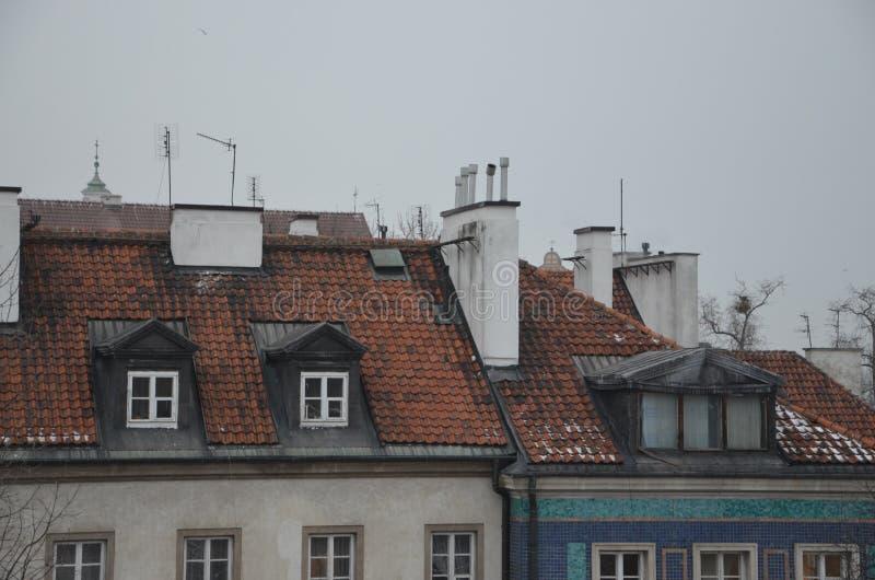 Vieilles constructions de ville images libres de droits