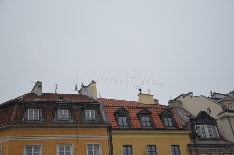 Vieilles constructions de ville images stock