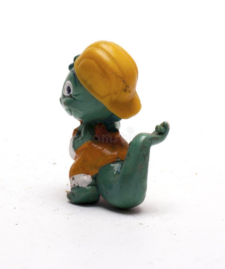 Vieilles figurines de bébé des animaux sur un fond blanc/vieilles figurines du ` s d'enfants des animaux photo stock