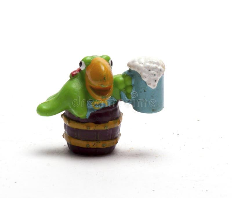 Vieilles figurines de bébé des animaux sur un fond blanc/vieilles figurines du ` s d'enfants des animaux image stock