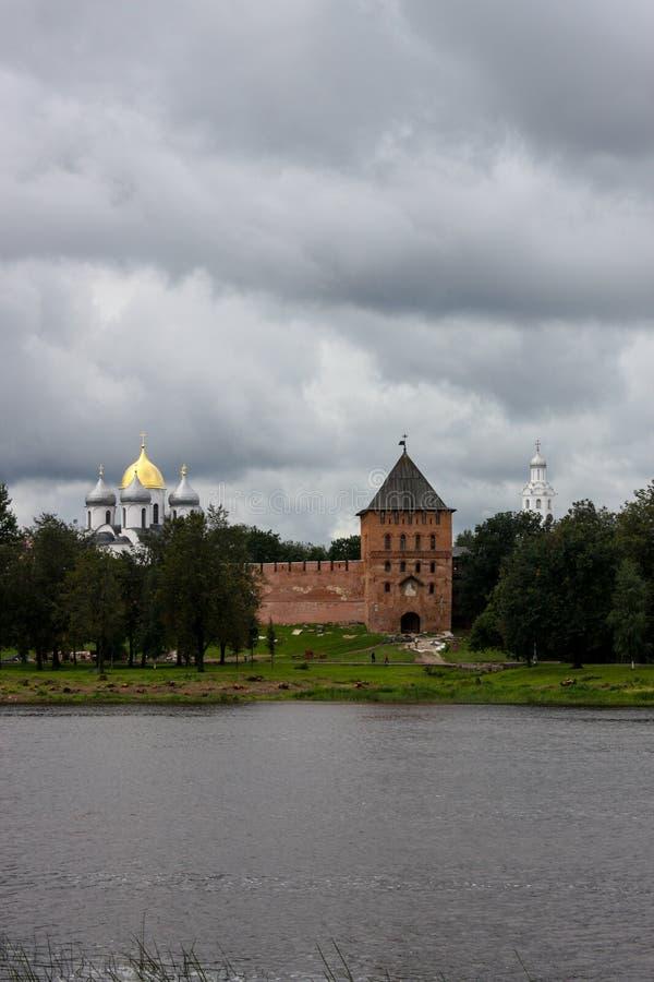 Vieilles forteresse et églises russes photo stock