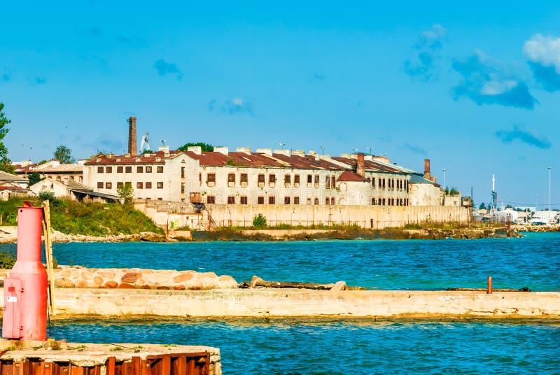 Vieilles forteresse et prison Patarei à Tallinn - en Estonie image stock