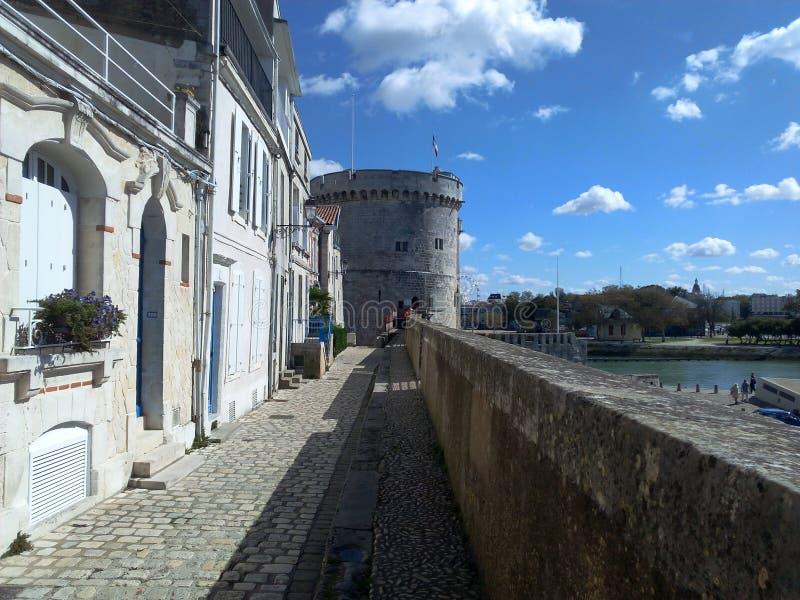 Vieilles Frances de ville de La Rochelle photo libre de droits