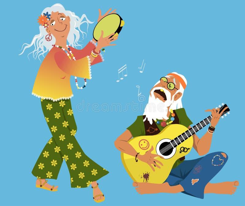 Vieilles hippies illustration libre de droits