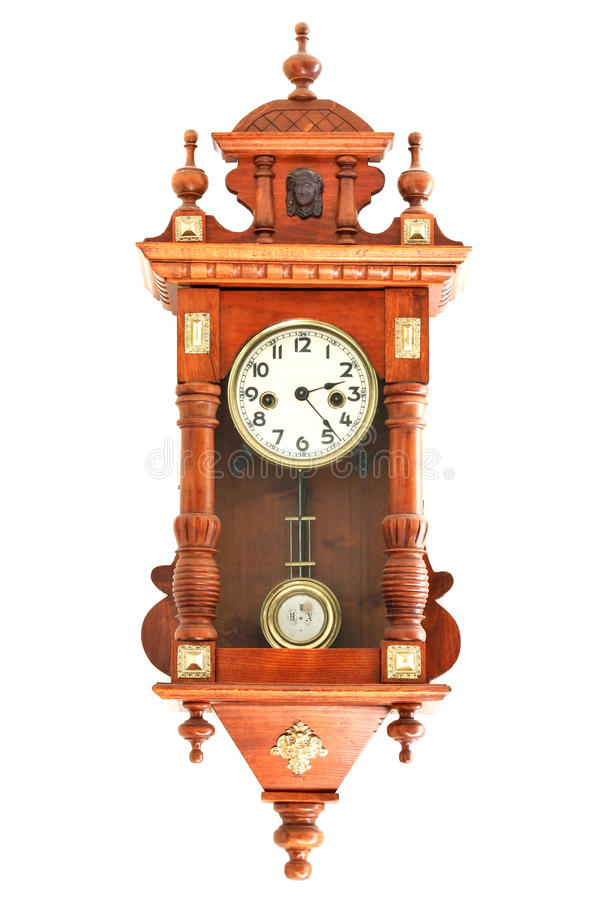 vieilles horloges en bois image stock image du cadran 11743355. Black Bedroom Furniture Sets. Home Design Ideas