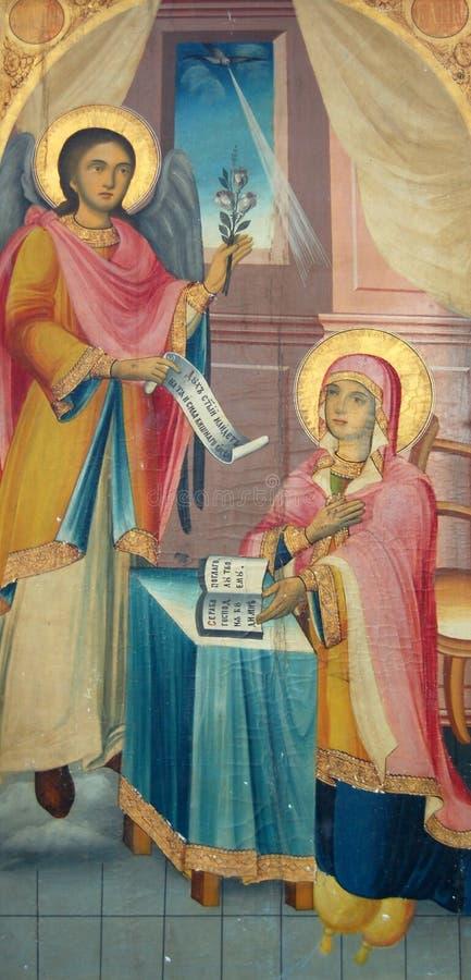 Vieilles icônes orthodoxes illustration stock