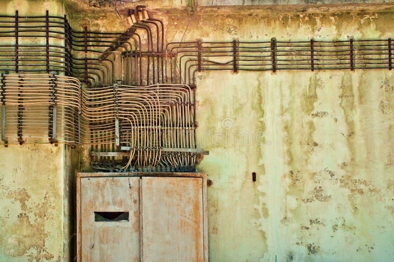 Vieilles installations électriques images libres de droits