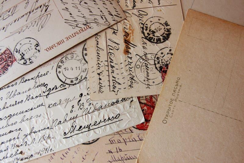 Vieilles lettres de vintage photo libre de droits