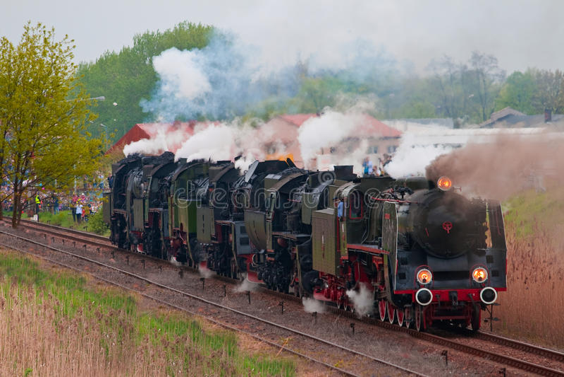 Vieilles locomotives à vapeur photographie stock