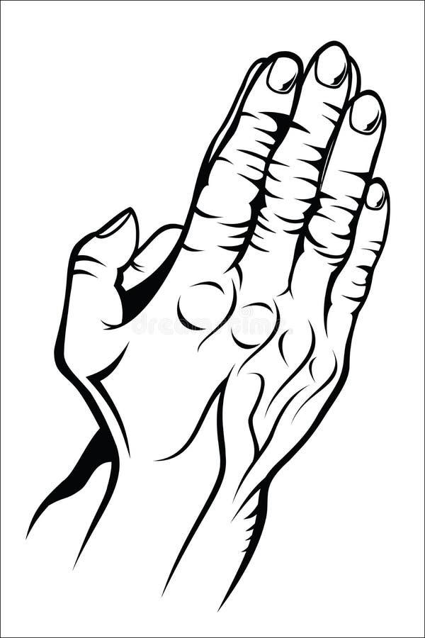 Vieilles mains de soulèvement illustration de vecteur