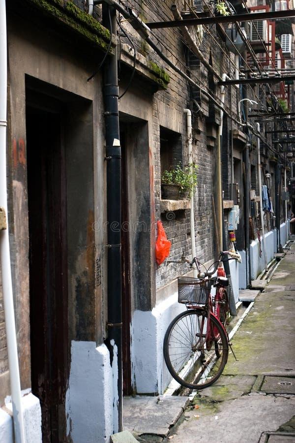 Vieilles maisons à Changhaï image libre de droits