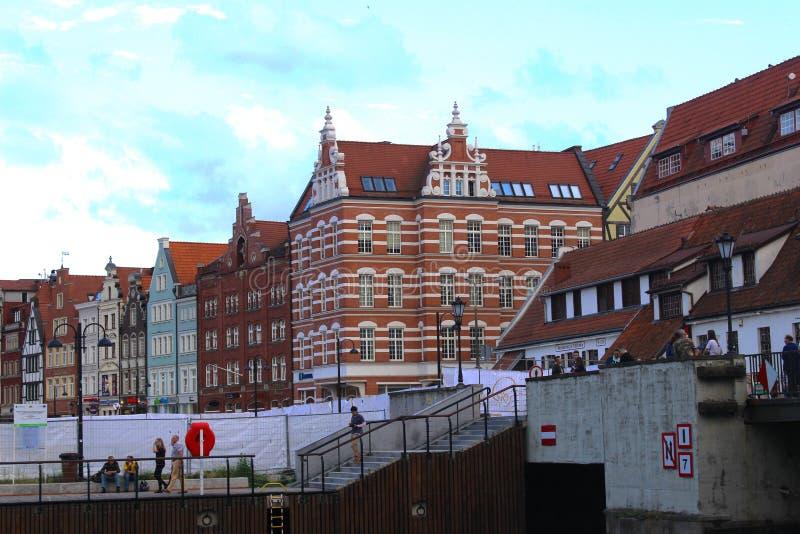 Vieilles maisons à Danzig photo libre de droits