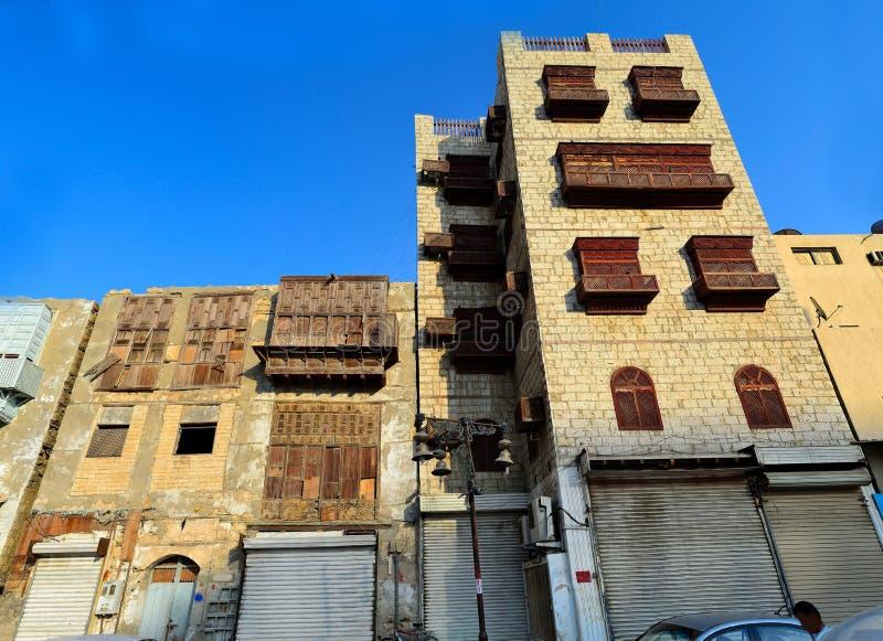 Vieilles maisons de Jeddah images libres de droits