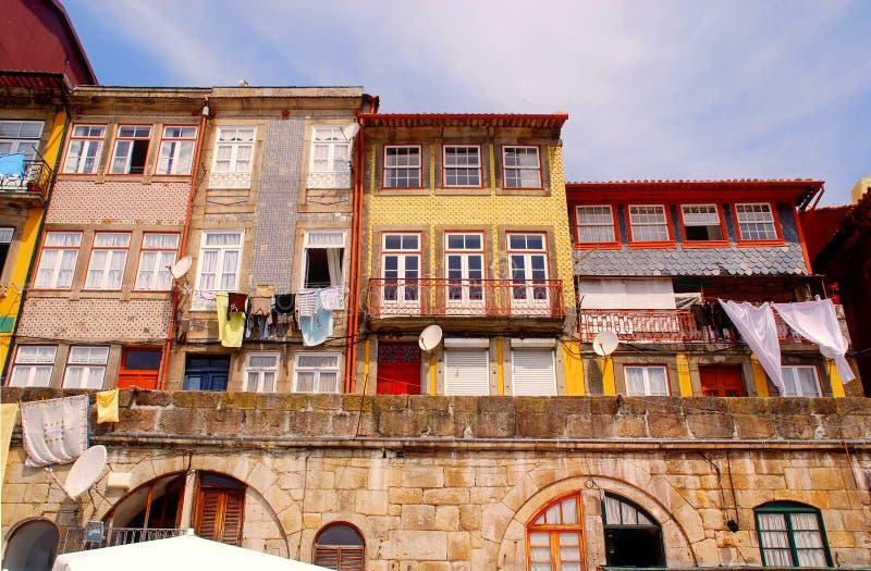 Vieilles maisons de Ribeira, Porto, Portugal photographie stock libre de droits